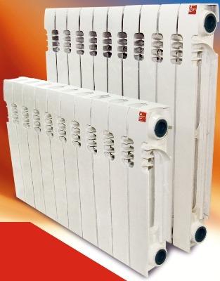 Предлагаем Вам биметаллические радиаторы TBF 500/80. Распродажа складских остатков 11 секций.  Похож на Sira Gladiator .   Параметры секции :  -межосевое расстояние : 500 мм ;  -теплоотдача : 190 Вт ;  -вес : 1,7 кг ;  -ширина : 75 мм ;  -глубина : 78 мм ;  -высота : 565 мм ;  -объём воды : 0,17 л.  В наличии также кронштейны,монтажные комплекты и терморегуляторы со скидкой.